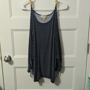 Michael Kors open shoulder women's XL top